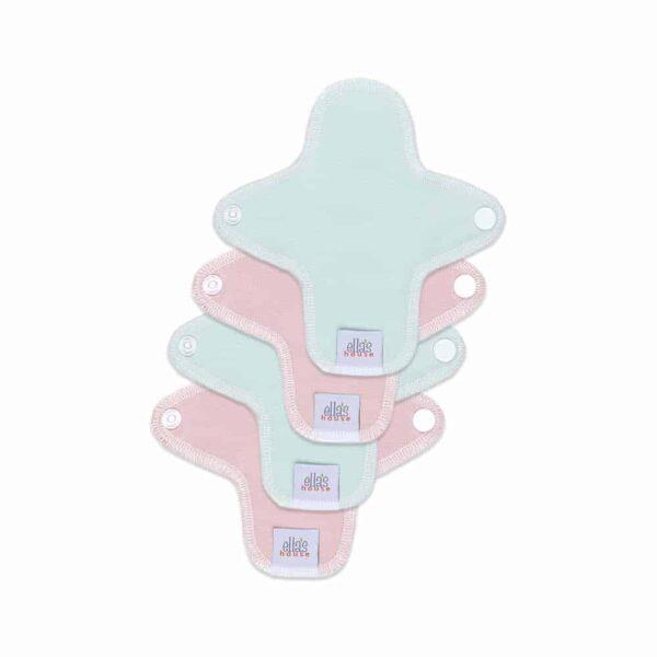 Ella's house inlegkruisje plain zephyr roze, cloud blauw