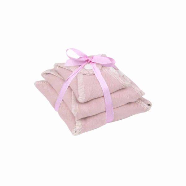 Ella's house probeerset plain zephyr roze met strik