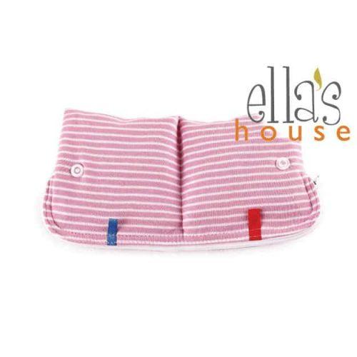 Ella's house tasje roze gestreept